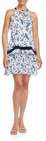 Shoshanna Printed Halter Dress