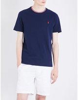 Polo Ralph Lauren Striped-trim Cotton-piqué T-shirt