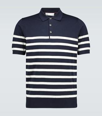 Brunello Cucinelli Striped cotton polo shirt