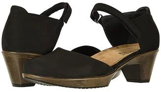 Naot Footwear Karma (Black Velvet Nubuck) Women's Shoes