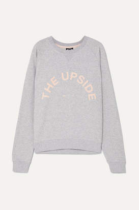 The Upside Bondi Appliqued French Cotton-terry Sweatshirt - Light gray