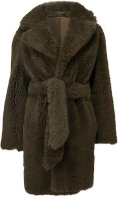 Dodo Bar Or Huger Belted Shearling Coat