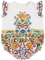Dolce & Gabbana Majolica Print Bodysuit