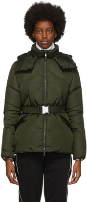 Moncler Green Down Aloes Coat