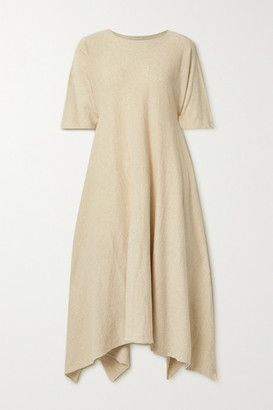 LAUREN MANOOGIAN Plane Organic Cotton And Linen-blend Maxi Dress - Beige