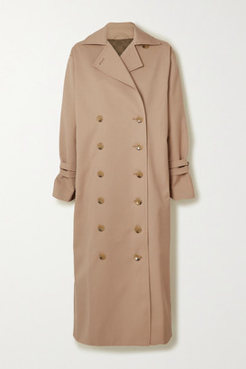 Totême Pisa Double-breasted Cotton-blend Trench Coat - Green