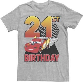 Disney Pixar Men's Disney / Pixar Cars Lightning McQueen 21st Birthday Tee
