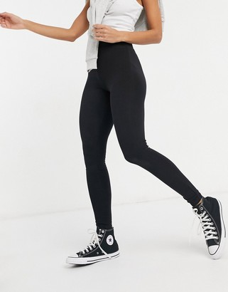 New Look high waisted legging in black