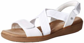 Grasshoppers Women's Leah 2-Strap Sandal Smooth Pu Shoe