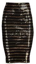 Ralph Lauren Collection Women's Sequin Striped Pencil Skirt