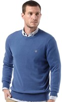Timberland Mens Williams River Crew Neck Knit Sweater True Blue