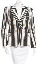 Balmain Striped Button-Up Blazer w/ Tags