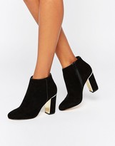 Lipsy Gold Detail Heeled Ankle Boots