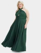 Two Birds Forest Green Convertible Ballgown Dress