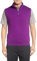 Bobby Jones Men's Quarter Zip Wool Sweater Vest