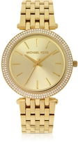 Michael Kors Mid-Size Golden Stainless Steel Darci Women's Watch
