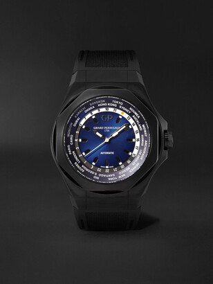 Girard Perregaux Laureato Absolute Ww.tc Automatic 44mm Pvd-Coated Titanium And Rubber Watch, Ref. No. 81065-21-491-Fh6a