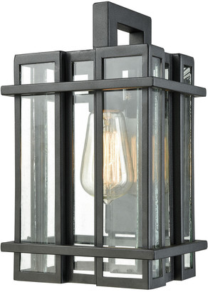 Artistic Home & Lighting Glass Tower 1-Light Outdoor Wall Sconce