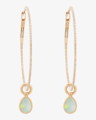 Nina Runsdorf Opal Gold Hoop Earrings
