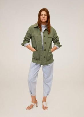 MANGO Multi-pocket cotton jacket