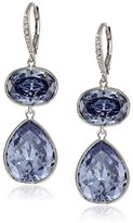 Kenneth Jay Lane CZ by Rhodium-Plated Cubic Zirconia Lever-Back Drop Earrings, 46 CTTW
