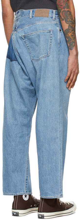 Thumbnail for your product : Kuro Blue Crossed Denim Jeans