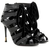 Tom Ford Velvet-trimmed leather sandals
