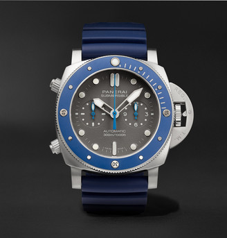 Panerai Submersible Guillaume Nery Chronograph Automatic 47mm Titanium And Rubber Watch