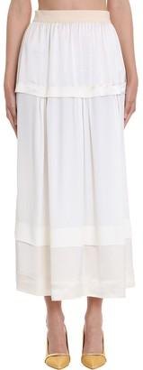 Mauro Grifoni Skirt In White Viscose
