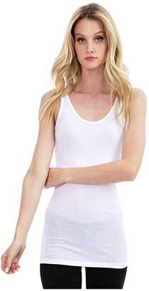 bobi Los Angeles Basic Tank Top in Lightweight Cotton Jersey (Black) Women's Clothing