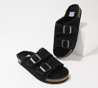 Earth Origins Slide Sandal with Faux Fur - Chill Cali