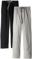 Hanes Men's Solid Knit Jersey Pajama Pant (Pack of Two Pairs)