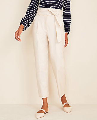 Ann Taylor The Tall Belted Paper Bag Pant