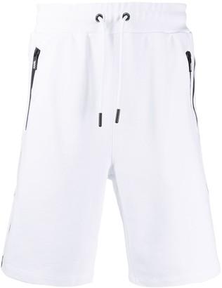 Karl Lagerfeld Paris Side-Stripe Track Shorts
