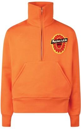 Moncler Half-Zip Monogram Sweatshirt