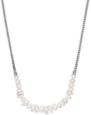 John Hardy Women's Chain Sterling Silver & 8.3MM White Fresh Water Pearl Necklace