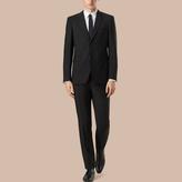 Burberry Modern Fit Wool Mohair Part-canvas Suit , Size: 48r, Black