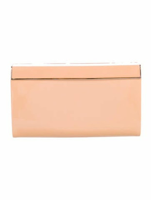 Jimmy Choo Patent Leather Clutch Tan