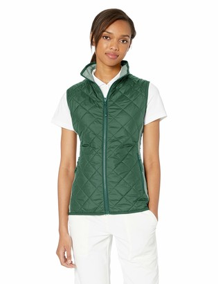Cutter & Buck Women's Water-Wind Resistant Sandpoint Quilted Vest with Pockets