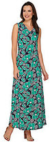 As Is Denim & Co. Sleeveless Floral Printed Maxi Dress