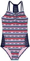 Gossip Girl Girl's Desert Stripe One-Piece Swimsuit