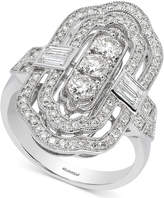 Effy Pave Classica by Diamond Statement Ring (1-1/5 ct. t.w.) in 14k White Gold