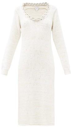 Bottega Veneta Chain-neck Knitted Cotton-blend Dress - White