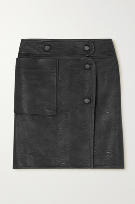 Stella McCartney Carly Vegetarian Leather Skirt - Black