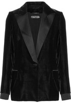 Tom Ford Satin-trimmed Velvet Blazer - Black