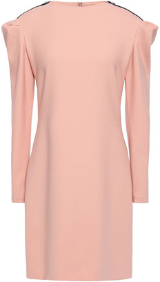 Victoria Victoria Beckham Gathered Zip-embellished Wool-blend Mini Dress