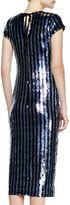 Marc Jacobs Striped Sequins Midi Dress