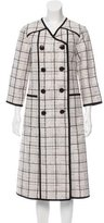 Suno Double-Breasted Plaid Coat