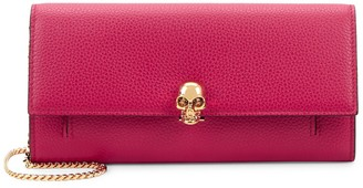 Alexander McQueen Leather Skull-Clasp Wallet