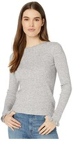 Rebecca Taylor Ribbed Pullover (Grey Multi Combo) Women's Sweater